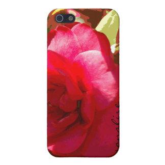 iPhone personalizado Camelia rojo 4 casos iPhone 5 Protector