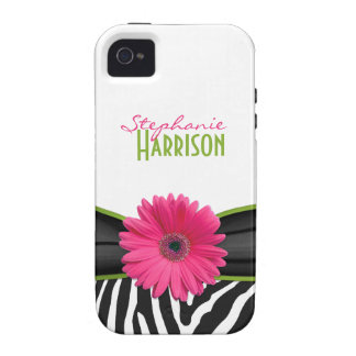 iPhone personalizado estampado de zebra verde iPhone 4/4S Carcasa