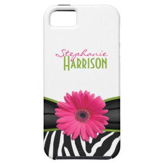 iPhone personalizado estampado de zebra verde rosa iPhone 5 Case-Mate Carcasas