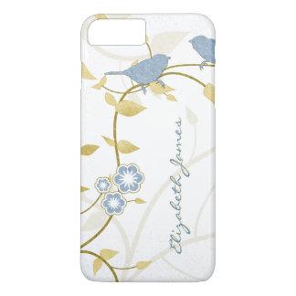iPhone personalizado floral 6 de White Birds del Funda iPhone 7 Plus