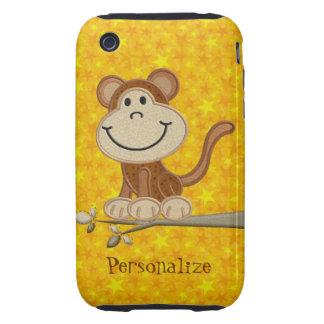 iPhone personalizado mono lindo 3/3GS del bordado iPhone 3 Tough Carcasa