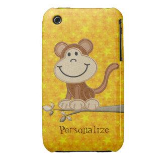 iPhone personalizado mono lindo 3/3GS del bordado iPhone 3 Case-Mate Carcasa
