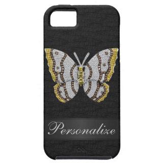 iPhone personalizado negro 5 de la mariposa del di iPhone 5 Protector