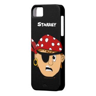 Iphone personalizado pirata lindo Scowling 5 del Funda Para iPhone SE/5/5s