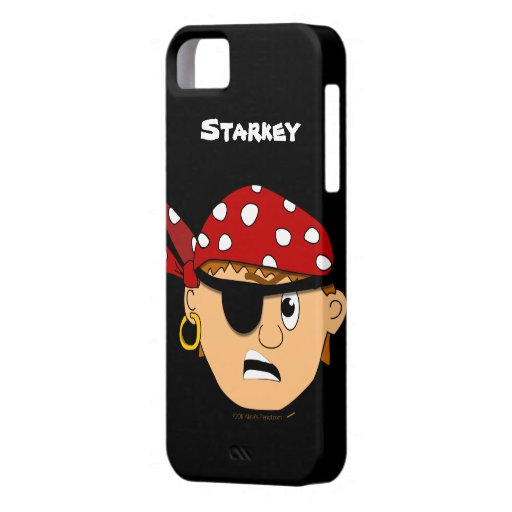 Iphone personalizado pirata lindo Scowling 5 del iPhone 5 Carcasa