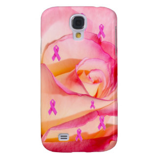 iPhone Pink Ribbon Rose Samsung Galaxy S4 Cover