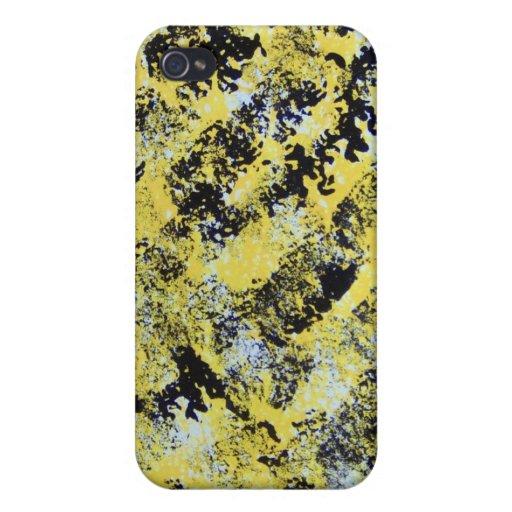 iPhone pintado amarillo y negro iPhone 4 Cárcasas