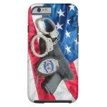 Iphone protege y sirve la caja de la policía funda de iPhone 6 tough