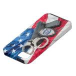 Iphone protege y sirve la caja de la policía iPhone 5 Case-Mate cárcasas