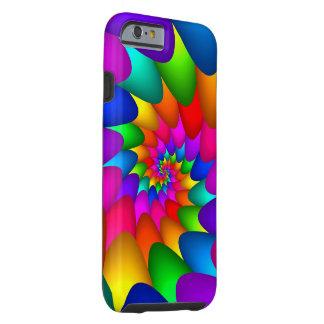 iPhone psicodélico 6 del espiral del arco iris, Funda Para iPhone 6 Tough