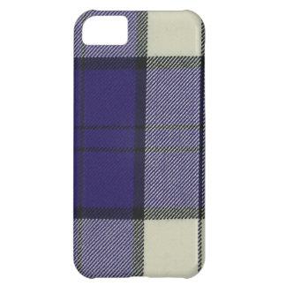 iPhone púrpura 5 C de la casamata del tartán del v