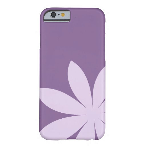 iPhone púrpura 6 de la margarita Funda De iPhone 6 Barely There