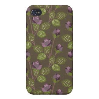 iPhone púrpura bonito verde oliva 4 de la caja de  iPhone 4 Protector