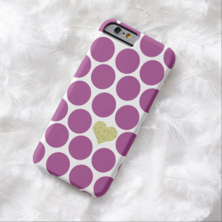 iPhone púrpura del corazón del brillo de los Funda De iPhone 6 Barely There