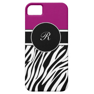 iPhone púrpura del monograma 5 casos iPhone 5 Carcasa