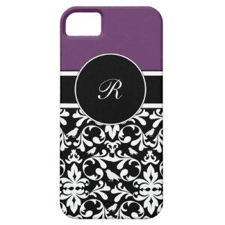 iPhone púrpura del monograma 5 casos iPhone 5 Carcasas