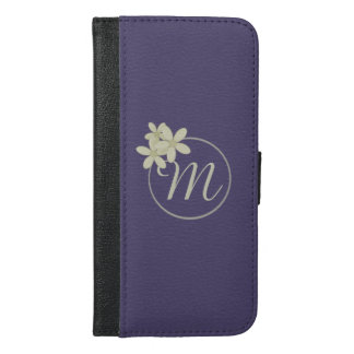 iPhone púrpura personalizado 6/6s más la cartera