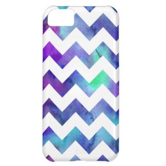iPhone púrpura y azul 5C de Chevron de la acuarela Funda Para iPhone 5C