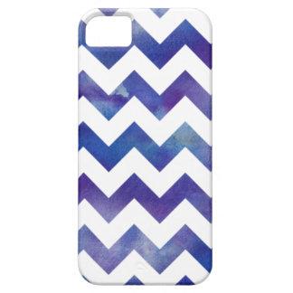 iPhone púrpura y blanco 5/5s de Chevron de la iPhone 5 Funda