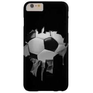 iPhone rasgado 6/6s del fútbol más el caso Funda Barely There iPhone 6 Plus