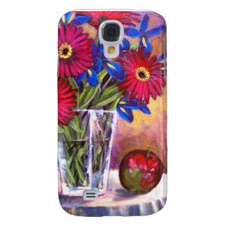 iPhone Red Daisy Flowers Apple Painting Samsung Galaxy S4 Case