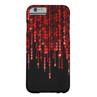 iPhone Red Phantom Binary Code Barely There iPhone 6 Case