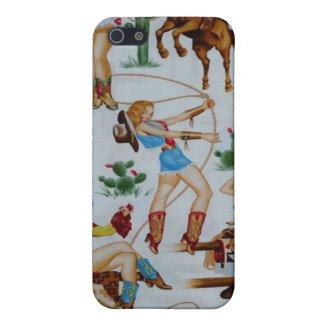 iPhone retro 4 de la caja de la mota de las vaquer iPhone 5 Funda