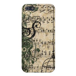 iPhone retro de los remolinos del damasco del mono iPhone 5 Carcasas