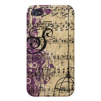 iPhone retro de los remolinos del damasco del mono iPhone 4/4S Funda