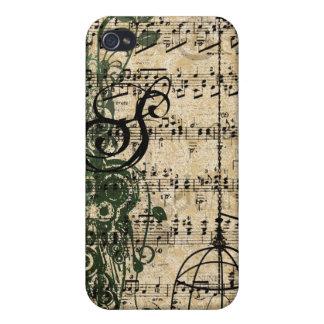 iPhone retro de los remolinos del damasco del mono iPhone 4 Cobertura
