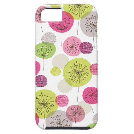 Iphone retro lindo 5 del diseño del estampado de iPhone 5 carcasas