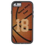 iPhone retro personalizado 6 casos del baloncesto