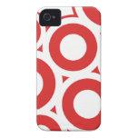 iPhone rojo 4/4s del modelo de los círculos iPhone 4 Case-Mate Carcasa