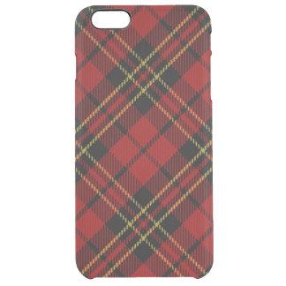 iPhone rojo clásico 6/6S del tartán más el caso Funda Clearly™ Deflector Para iPhone 6 Plus De Unc