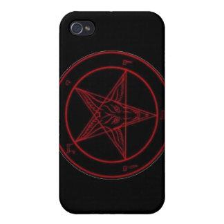 iPhone rojo de Baphomet 4 casos iPhone 4 Carcasa