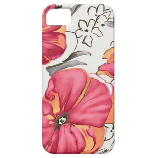 iPhone rojo de la impresión floral 5 casos iPhone 5 Case-Mate Cárcasas