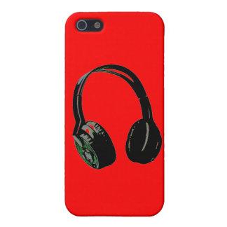 iPhone rojo del arte pop de los auriculares 5 caso iPhone 5 Cárcasas