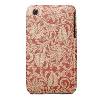 iPhone rojo floral 3G/3GS de la casamata del iPhone 3 Carcasa