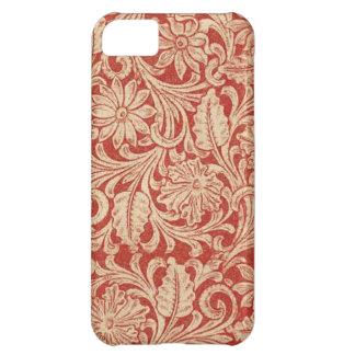 iPhone rojo floral 5 de la casamata del damasco de Funda Para iPhone 5C