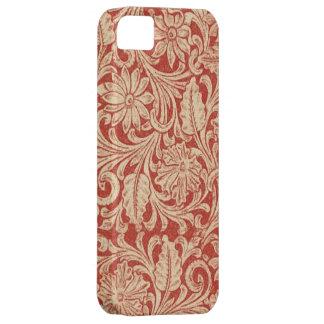 iPhone rojo floral 5 de la casamata del damasco Funda Para iPhone 5 Barely There
