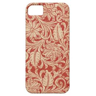 iPhone rojo floral 5 de la casamata del damasco iPhone 5 Fundas