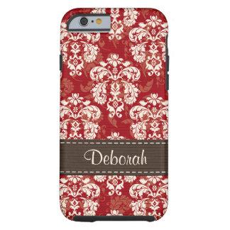 iPhone rojo marrón 6 del damasco duro