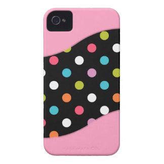 iPhone rosado 4 cajas del lunar iPhone 4 Cárcasa