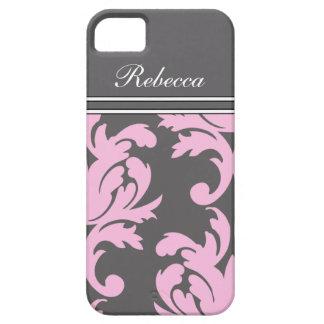iPhone rosado 5 casos del monograma iPhone 5 Case-Mate Cobertura