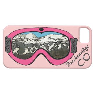Iphone rosado 5 de las gafas de la nieve de iPhone 5 carcasas