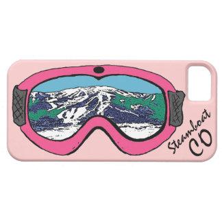 Iphone rosado 5 de las gafas de Steamboat Springs iPhone 5 Carcasa