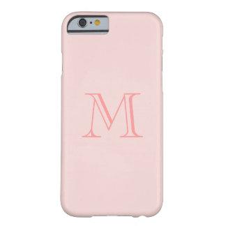 iPhone rosado bonito del monograma 6 casos Funda Para iPhone 6 Barely There
