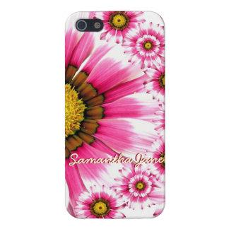 iphone rosado de la caja del teléfono celular de l iPhone 5 protector