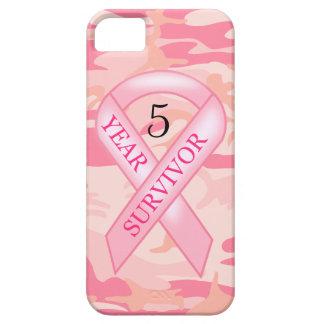 iPhone rosado de la conciencia del superviviente iPhone 5 Fundas