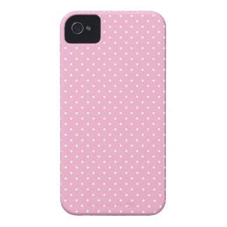 Iphone rosado de la impresión del modelo de punto Case-Mate iPhone 4 protector